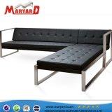 Jardin extérieur canapé canapé en acier inoxydable dernière conception canapé ensemble canapé mobilier de Dubaï