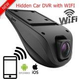 2CH背面図車DVRのGセンサー、制御車のダッシュのデジタルビデオレコーダーを駐車する夜間視界が付いているスクリーンのWiFi HD 1080P車のブラックボックスのカメラは隠されて二倍にならない