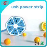 Intelligente Kontaktbuchse USB-Streifen mit Multi-Schnittstelle elektrischer Extensions-Kontaktbuchse/Aufladeeinheits-rundem Kontaktbuchse-Frucht-Tellersegment