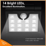Faltbare LED-angeschaltene Garten-an der Wand befestigte Solarlampe mit Bewegungs-Fühler für Sicherheits-Beleuchtung