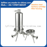 fabricante multi sanitario del cárter del filtro del vapor del aire del cartucho de la membrana del acero inoxidable 304 316 solo