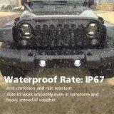 De LEIDENE Koplamp van de Lens 75W 25W Waterdichte IP68 van de Koplamp van de Jeep 7inch van de Weg met DRL