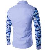 Chemises Long-Sleeved d'hommes de chemise d'hommes de chemises de camouflage de robe