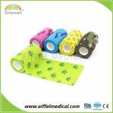 Novíssimo 10cm*4,5 m Cola Multi-Use Wrap Non-Woven coloridos Athletic bandagem Coeso