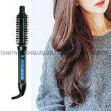 1の専門家3は長い毛のための即刻の電気暖房のブラシを反沸騰させる(青い)