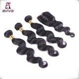 O dobro de tecelagem da extensão do cabelo da onda do corpo da fábrica afoga o cabelo humano brasileiro do Virgin de Remy
