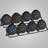 la PARITÉ mince de 8PCS 18X3w DEL PAR64 54W peut usager plat de projecteur d'éclairage de couleur de la lumière RVB de PARITÉ de DMX que LE DJ s'allument