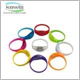 Bracelet de silicones estampé par ABS de silicones d'éclairage LED avec la batterie