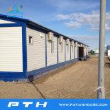 Дом контейнера плоского пакета полуфабрикат как модульная гостиница