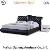 1111 실제적인 가죽 현대 침대
