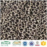 Materia textil suave estupenda de Hywell del terciopelo de la impresión del leopardo