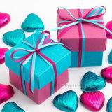 El favor por encargo de la boda del cuadrado de la alta calidad encajona acontecimiento de los regalos del rectángulo del caramelo