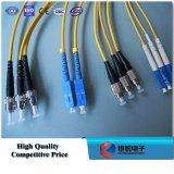 Cuerda de corrección Sc/FC/LC/St de fibra óptica