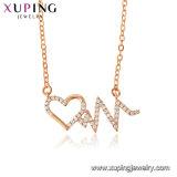 44465 Femenina de moda joyas collar de color oro rosa