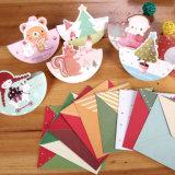 Impresión caliente de la tarjeta de felicitación del papel de la Navidad de las ventas
