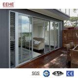 Puertas de la ventana de aluminio en el perfil de aluminio Windows y la puerta