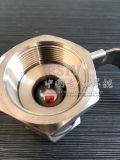 En acier inoxydable moulé à filetage femelle 1PC Clapet à bille avec 2000wog