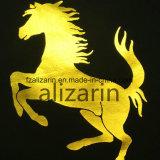 Vinilo de oro pegajoso de la PU del traspaso térmico para la camiseta