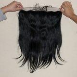 Frontal reto brasileiro do laço 13X4 do cabelo humano com cabelo do bebê