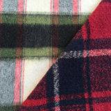 Поддельный ткань шерстей ватки одежды из твида, Palin почистила ткань щеткой
