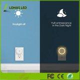 Energiesparende Dämmerung 0.6W, zum zu dämmern Fühler-Selbstintelligentes Fühler-Nachtan/aus-licht-weiches Weiß 3000K