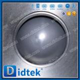 Válvula de esfera CF8 pneumática portuária de Didtek V 4 polegadas com tipo da bolacha