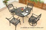 Conjunto de jantar elegante mobília do pátio com jardim em alumínio fundido