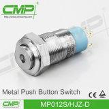 CMP 12mm de Mini Hoge HoofdSchakelaar van de Drukknop