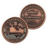 Fundición de metal 3D Color bronce antiguo reto escultura grande moneda conmemorativa