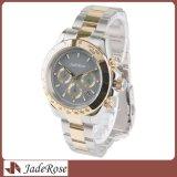 Los hombres miran, reloj de lujo del acero inoxidable de los hombres de la marca de fábrica de la manera, reloj del cuarzo del deporte de la fecha
