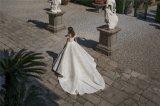 Крышка Sleeves платье венчания 2018 Lb1818 Sequins шнурка мантий шарика Bridal