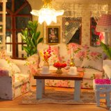 مصنع بالجملة [دولّ هووس] خشبيّة مع أريكة تصميم خشبيّة أريكة محدّد تصاميم هبة جيّدة