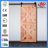 Kiefer-Schüttel-Apparatzusammengesetzte festes Holz-Glasstall-Tür (JHK-SK11)