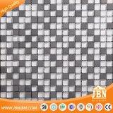 15X15mmのチェッカーボードの石およびガラスによって網取付けられるモザイク・タイル(M815040)