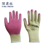 Baumwollsicherheits-Handschuh der gute Qualitäts21g mit Windung-Latex beschichtete