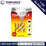 Batterie sèche alcaline (LR6-AA Taille) avec la CE a approuvé pour le jouet 6PCS 5 ans Durée de vie