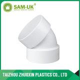 Локоть PVC Dwv 45dge с стандартом ASTM