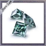 보석을%s Cut Moissanite 4*4mm 녹색 사각 공주