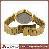 Montre imperméable à l'eau de quartz d'alliage de diamant de montre occasionnelle de luxe de dames