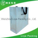 Sac à provisions de papier, sac de papier estampé par logo fait sur commande avec des traitements
