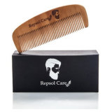 Barba Barba Kit de Cepillo y peine para los hombres, el estilo y la conformación de - de madera hechos a mano Peine y cepillo de cerdas de jabalí naturales Barba establece