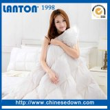 Conjunto de roupa de cama de poliéster de cor branca colcha acolchoados