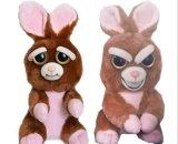 Vulde de Grappige Uitdrukking van het Speelgoed van de Huisdieren van Feisty de Dierlijke Gift van Kerstmis van Doll