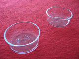 Bailo transparente placas Petri de cristal de cuarzo.