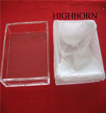 La Plaza de alta calidad para la fusión de la bandeja de cuarzo claro