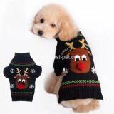 L'animal familier de Noël d'approvisionnement de crabot de vacances vêtx le chandail de chiot