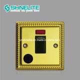 Один пластину 45A 1 токопроводящей дорожки Двухполюсный выключатель с неоновыми индикаторами ожидающего