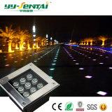12W LED à prova de luz de metro quadrado