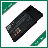 rectángulo de regalo a dos caras del negro de la tarjeta 1200GSM con la hoja de plata Stampping