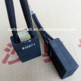PER ESEMPIO spazzola di carbone della grafite del motore di CC 571 elettro fatta in Cina